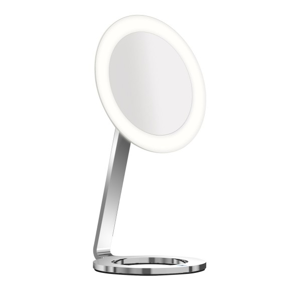 Aliseo LED MOON DANCE Kosmetikspiegel Standmodell chrom, Ø 24 cm