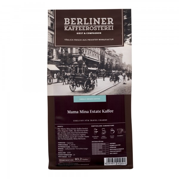 Mama Mina Estate Kaffee (500g) - ganze Bohne - Fair gehandelt