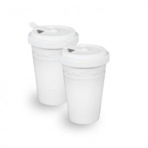 KPM KURLAND To-Go Becher, weiss, 2er Set