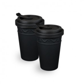 KPM KURLAND To-Go Becher, schwarz, 2er Set